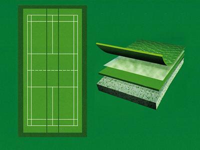 专业型羽毛球运动地板